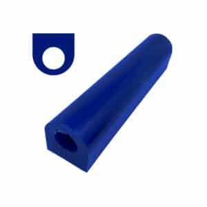tubo de cera azul chico, plano con orificio