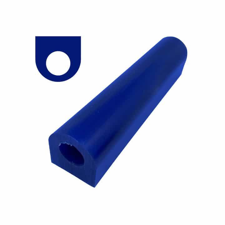 tubo de cera azul, plano con orificio
