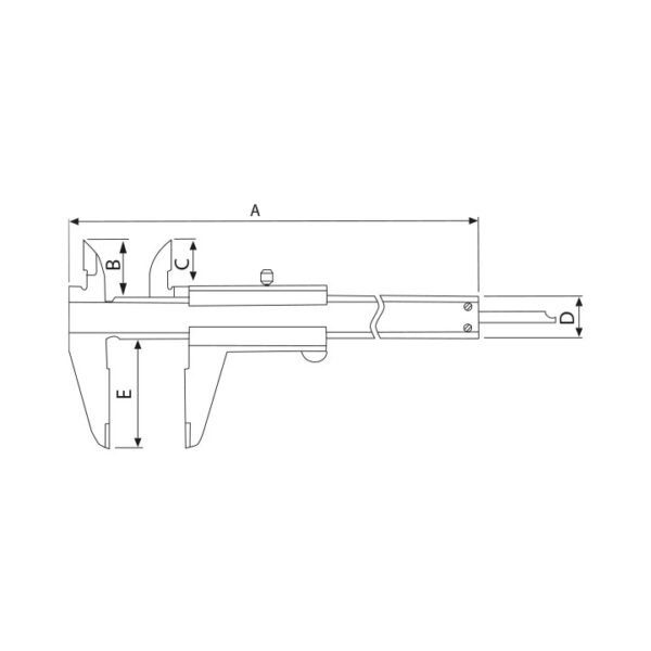 Pie de metro Mecánico 100 mm